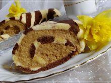 Rolada w paski z kremem kawowo-jaglanym