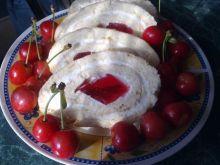 Rolada z kreme waniliowym z galaretką