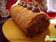 Rolada z kremem kakaowym