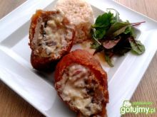 Rolada z majonezem, pieczarkami i serem