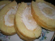 Rolada z mascarpone i bananem