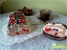 Rolada z truskawkami i mascarpone