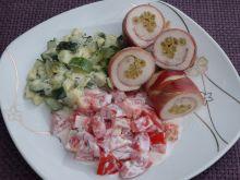 Roladki drobiowe z fasolką szparagową