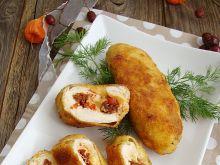 Roladki drobiowe z salsą paprykową