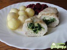 Roladki drobiowe z szpinakiem i serem