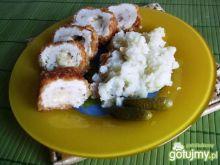 Roladki kurczaka w płatkach ryżowych