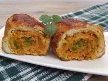 Roladki marchewkowo-paprykowe z curry