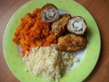 Roladki nadziewane fetą z kuskusem i marchewką