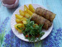 Roladki schabowe pieczone z ziemniakami