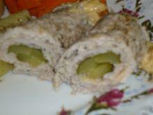 Roladki schabowe z chrzanem i serem wędzonym