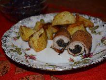 Roladki schabowe z grzybami suszonymi