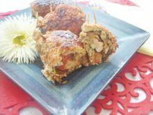 Roladki schabowe z papryką, pieczarkami i cebulką