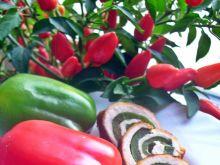 Roladki schabowe z zieloną papryką