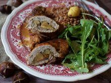 Roladki wieprzowe z kasztanami