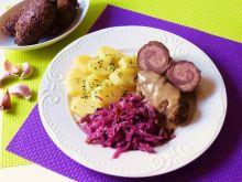 Roladki wołowe nadziewane mielonym mięsem