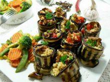 Roladki z bakłażana z jaglaną z warzywami