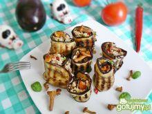Roladki z bakłażana z kurkami i kaszą