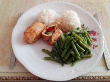 Roladki z brokułem i papryką