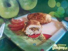 Roladki z czerwoną cebulą i papryką.
