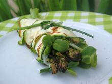 Roladki z grillownej cukinii z zielonym serkiem