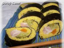 Roladki z kaszy a la sushi