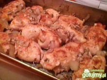 Roladki z kurczaka z pieczarkami i boczk