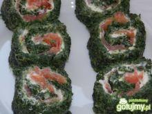 Roladki z łososiem