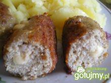 Roladki z mięsa mielonego z serem żółym