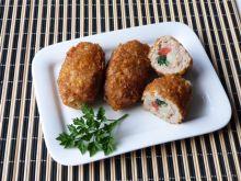 Roladki z mięsa mielonego ze szparagami
