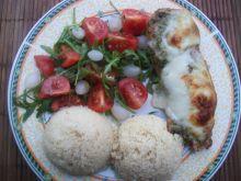 Roladki z pesto zapiekane pod mozzarellą