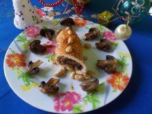 Roladki z pieczarkami i orzechami