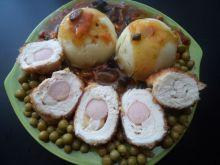 Roladki z piersi kurczaka polane chińskim sosem
