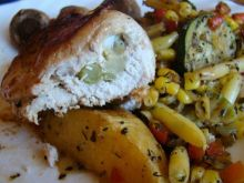 Roladki z piersi kurczaka z brokułami