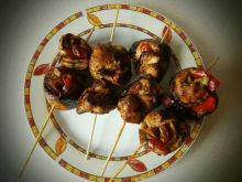 Roladki z piersi kurczaka z papryką i z szynką