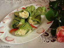 Roladki z sałatą i kaszą kuskus