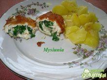 Roladki z serem kozim i szpinakiem