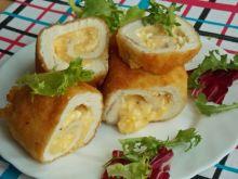 Roladki z serem żółtym i jajkami