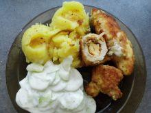 Roladki z serem żółtym i mizerią