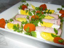 Roladki z szynki i jajko w galarecie