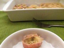 Roladki z szynki i żółtego sera
