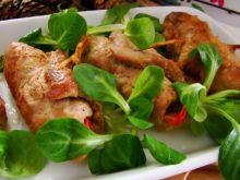 Roladki z szynki nadziewane papryką marynowaną