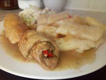 Roladki z szynki z papryką w sosie