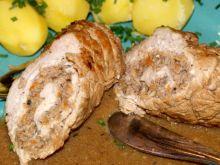 Rolady schabowe z mięsem i grzybami