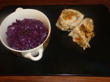 Rolady schabowe z pieczarkami, serem i papryką