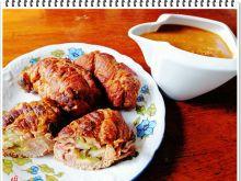 Rolady wieprzowe Eli z ogórkiem małosolnym i serem