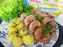 Rolady wieprzowe nadziane mięsem mielonym