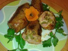 Rolady wieprzowe z ogórkiem kiszonym