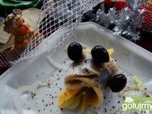 Rolmopsik z serem i oliwkami