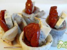 Rolmopsy z suszonymi pomidorami i serem