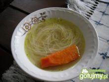 Rosół z gęsi z makaronem ryżowym